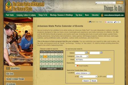 Fully searchable online calendar of events