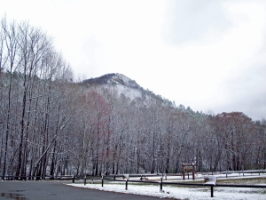 A cold, snowy day can be the perfect time to experience Pinnacle Mountain State Park.