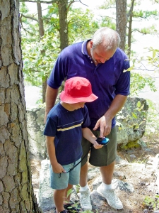 Geocaching creates a connection of the outdoors and technology.