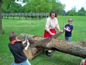 Kids get hands on history lessons at Parkin Archelological State Park.