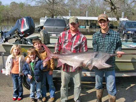 Quality family time and a big 'ol fish!