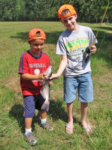 Nothing goes together like kids and fishing.