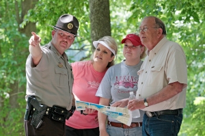 Park Rangers are there to serve and assist park visitors.