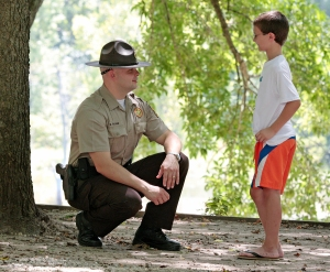 Some Arkansas State Park Rangers are also trained park interpreters.