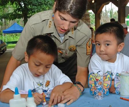 Kids really enjoy the Mount Magazine Butterfly Festival!