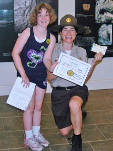 Linda S., first to complete the Arkansas State Park Explorer Program.