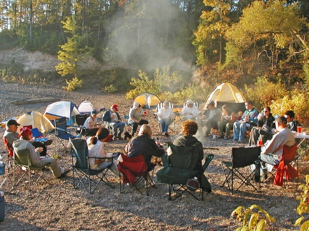 Nothing brings people together like a campfire in the fall.