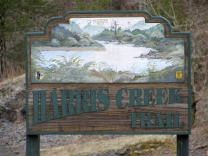 Harris Creek Trail Sign.