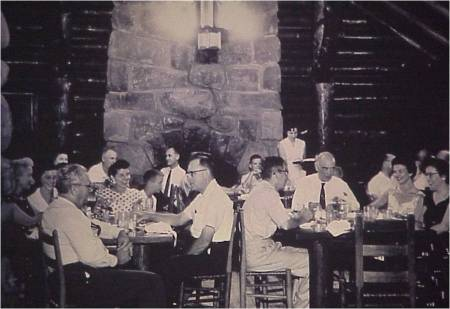 Dining Guests at Original Restaurant 1950s (Not being removed, now called the CCC room)