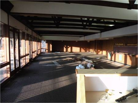The last photo of the 1964 Restaurant (tables & chairs removed).