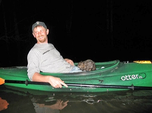 The writer (current Park Superintendent) with the beaver.